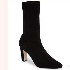 Manolo Blahnik Todi Black Sock Booties Size: 36.5
